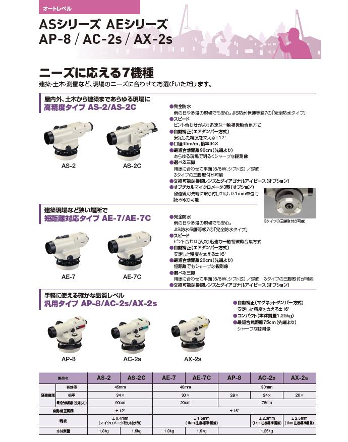 ニコン・トリンブル製オートレベルAC-2s(三脚付) サブ紹介文イメージ 2